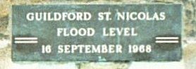 Guildford St. Nicolas Flood Level 16 September 1968