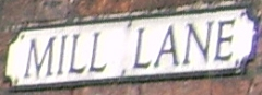 Mill Lane Road Sign
