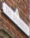 The Shambles Road Sign