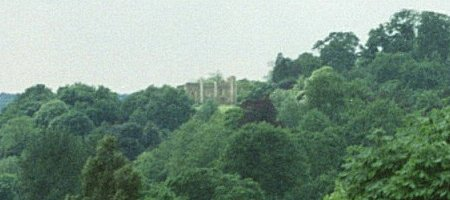 St Catherine's Priory from lookout point by the Castle Keep